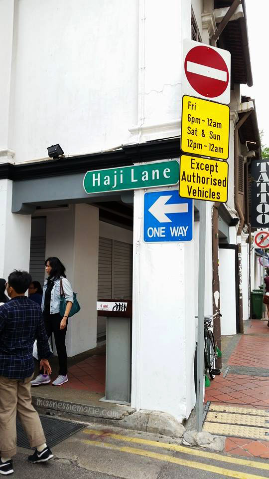 Haji Lane Sign Miss Nessie Marie