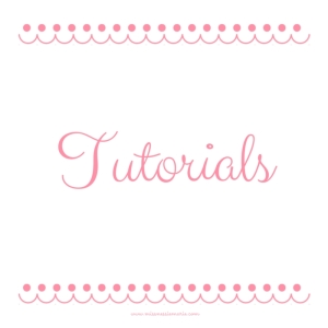 tutorials-missnessiemarie